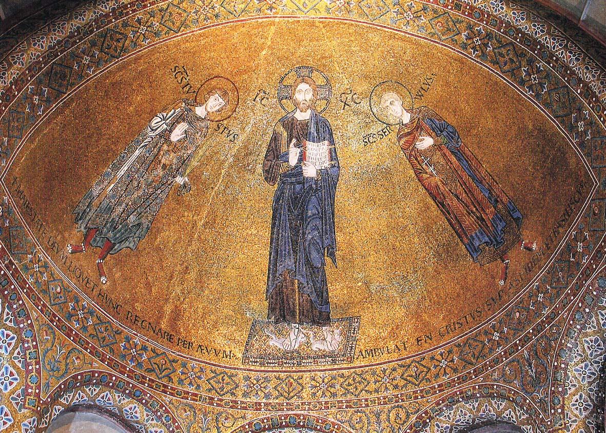 Il mosaico nella navata di San Giusto