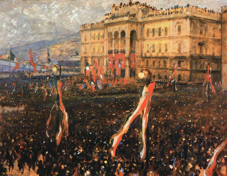 Civici Musei di Storia e Arte: Festa dell'annessione, Carlo Wostry 1921