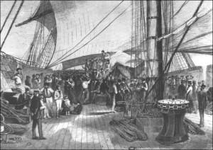 a bordo della Novara